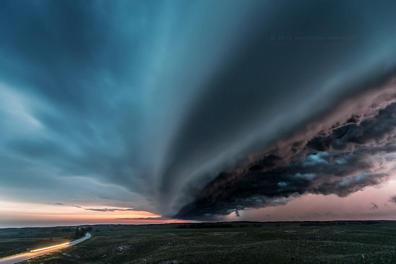 Shelf cloud near Valentine, NE. June 2nd 2015.