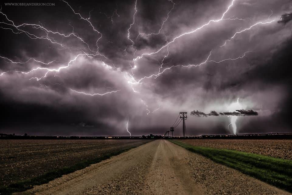 """""""CRACK 2"""".... from last year, out shooting lightning with my brother, had to clone his car out too as it was in front of me on the road. This was a two shot stack the lightning was just crazy!!! Shot in Western Iowa."""