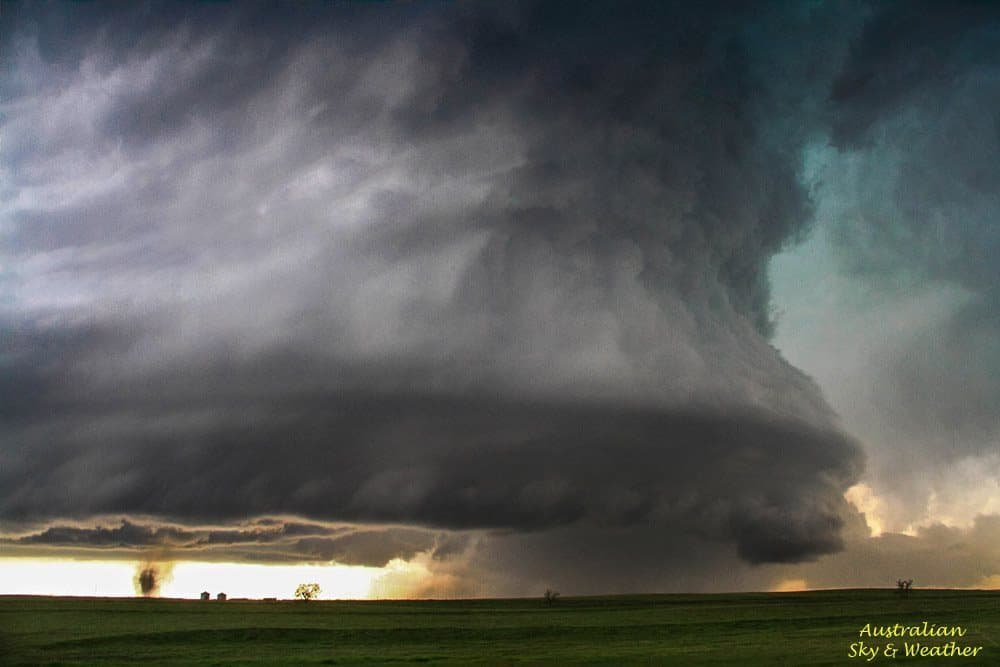 The astounding Simla-Matheson supercell with 2 tornadoes going...one buried in the rain and one clearly visible...this has to be the most amazing storm we have ever seen and we were fortunate to be able to view virtually the whole life cycle from 2 locations on the same road.....this stormchaser's dream catch!!! 4th June 2015