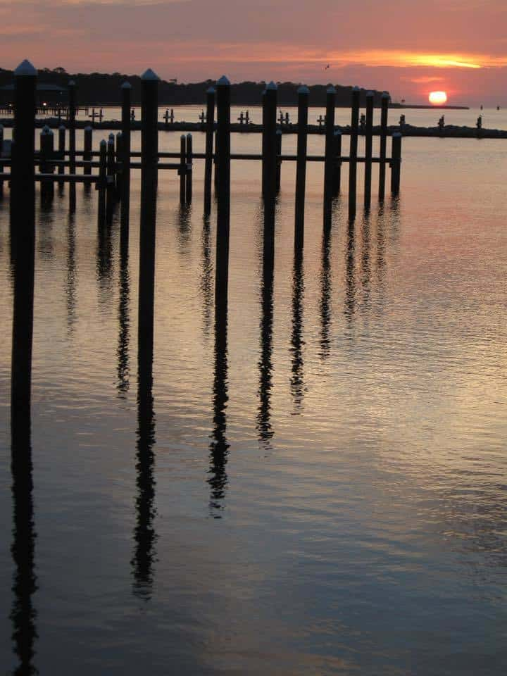 Ft Morgan, Gulf Shores, Alabama sunset Small handheld digital camera, no editing.