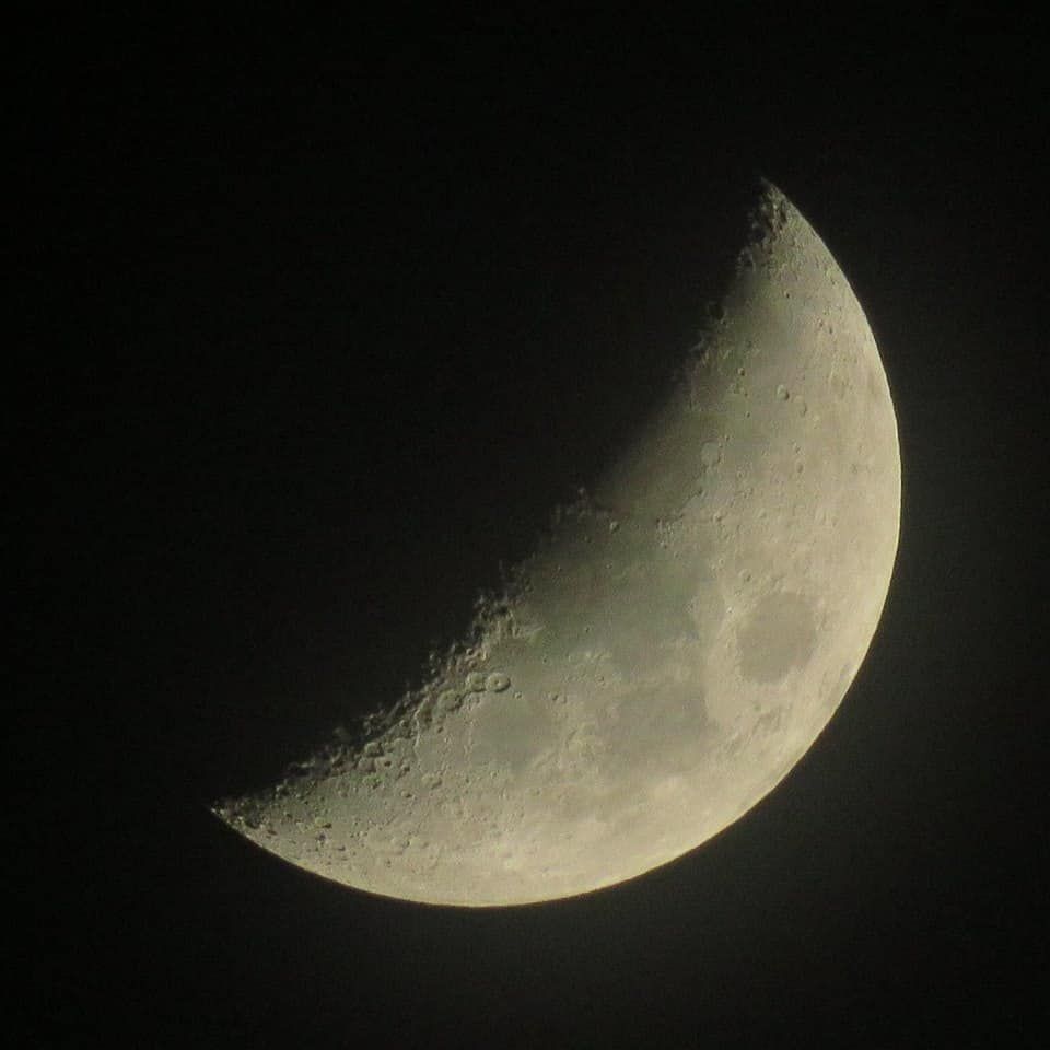 1/2 Moon just now, Netherlands