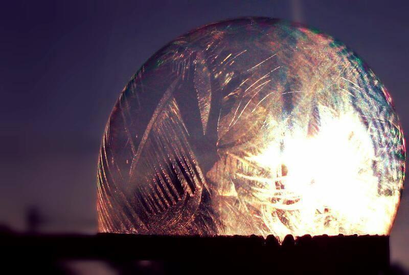 Frozen bubble ( -13.5 °C) 2016.01.22. (Sarkad - Hungary)