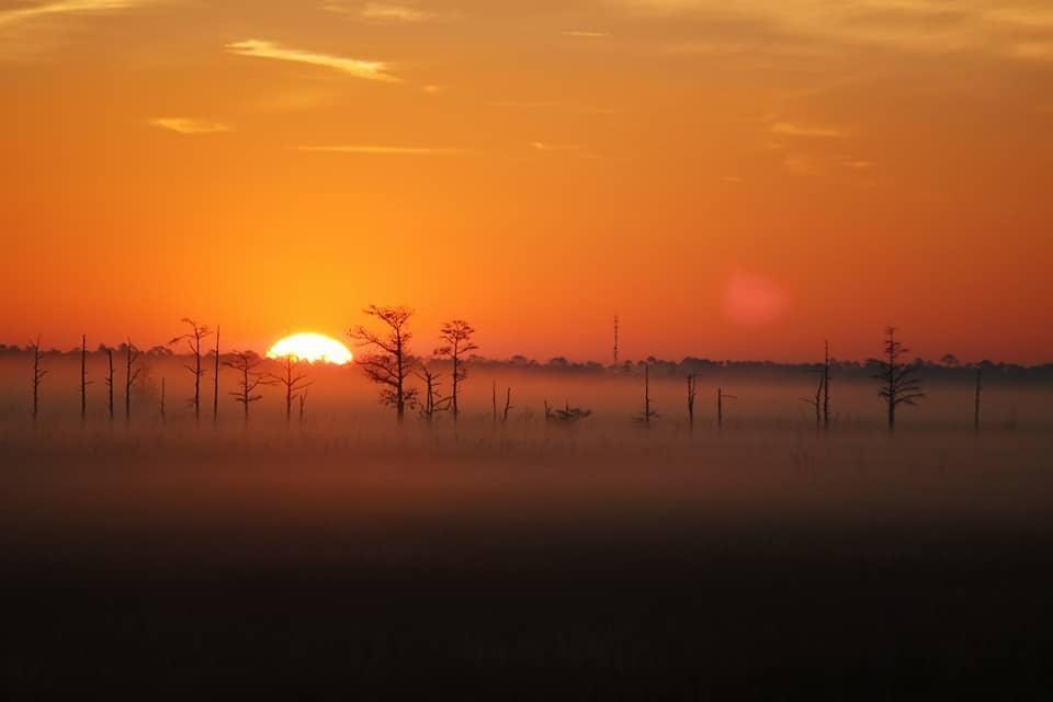 Sunrise — at Escambia Bay Bridge.