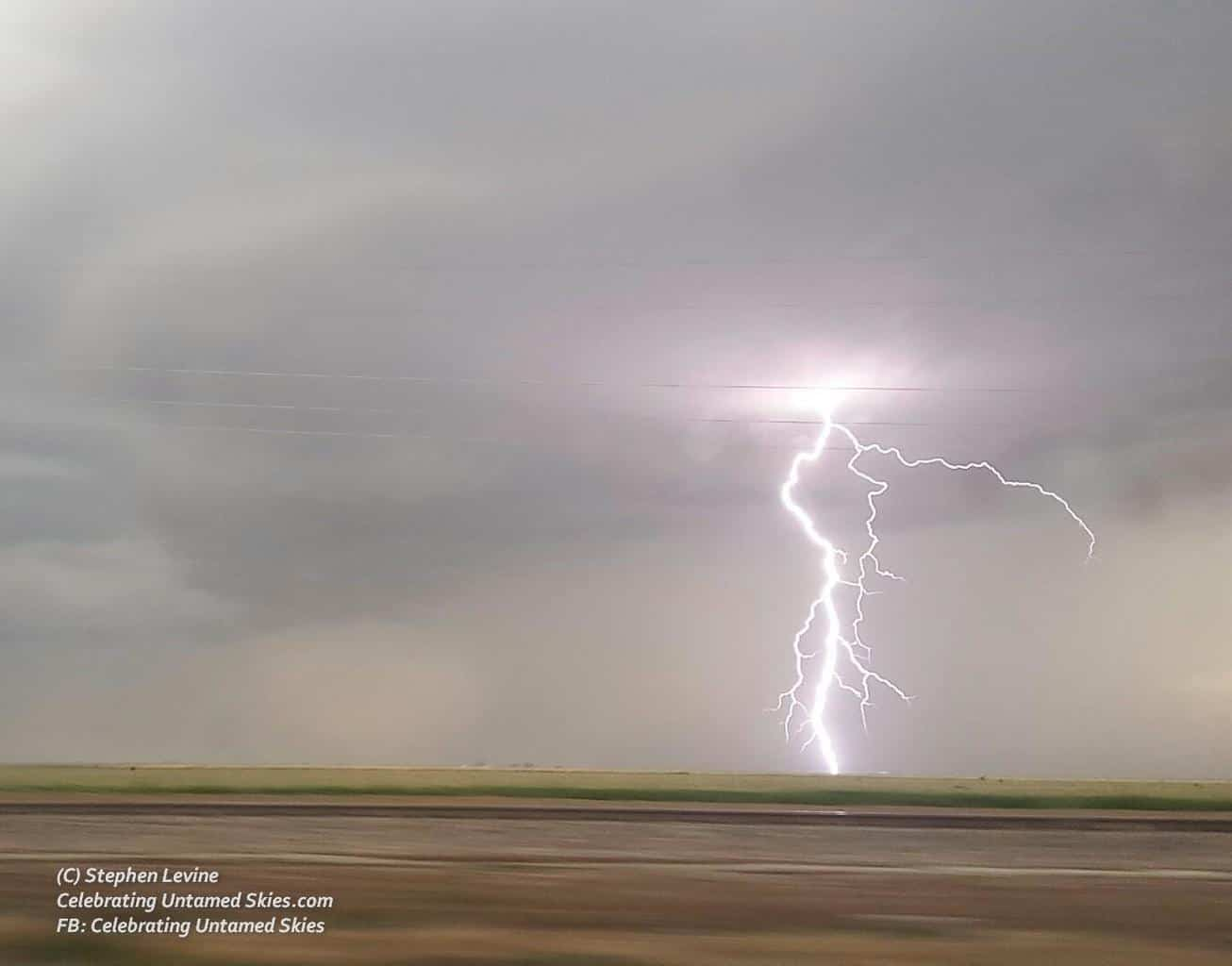 What a delight it is to capture this magnificent lightning bolt during a storm chase in the Texas Panhandle! June 1st, 2015