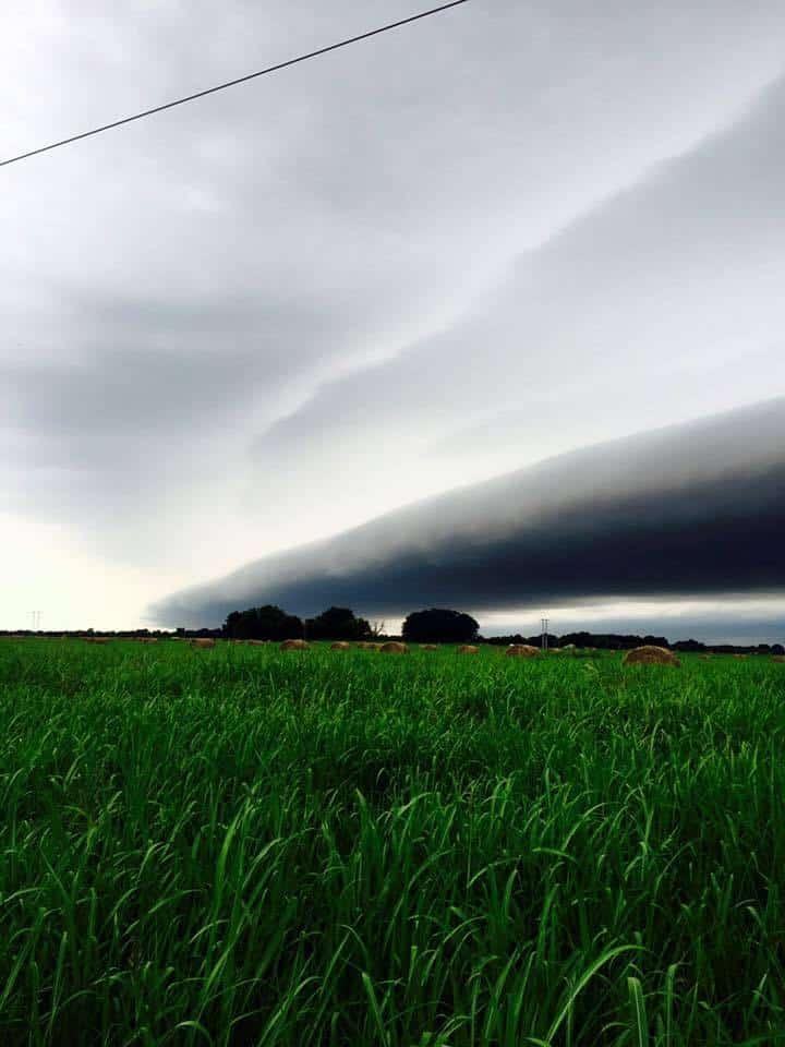 Incoming shelf cloud near Ponca City, OK  Sept. 2015
