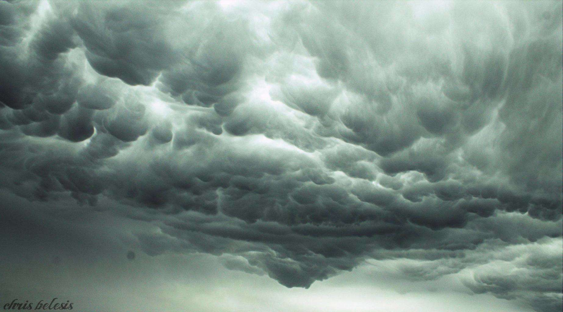Mammatus over Nicosia - Cyprus, when i saw those clouds i was: OMG what a shapes !!!!! like tornado forming hahaha