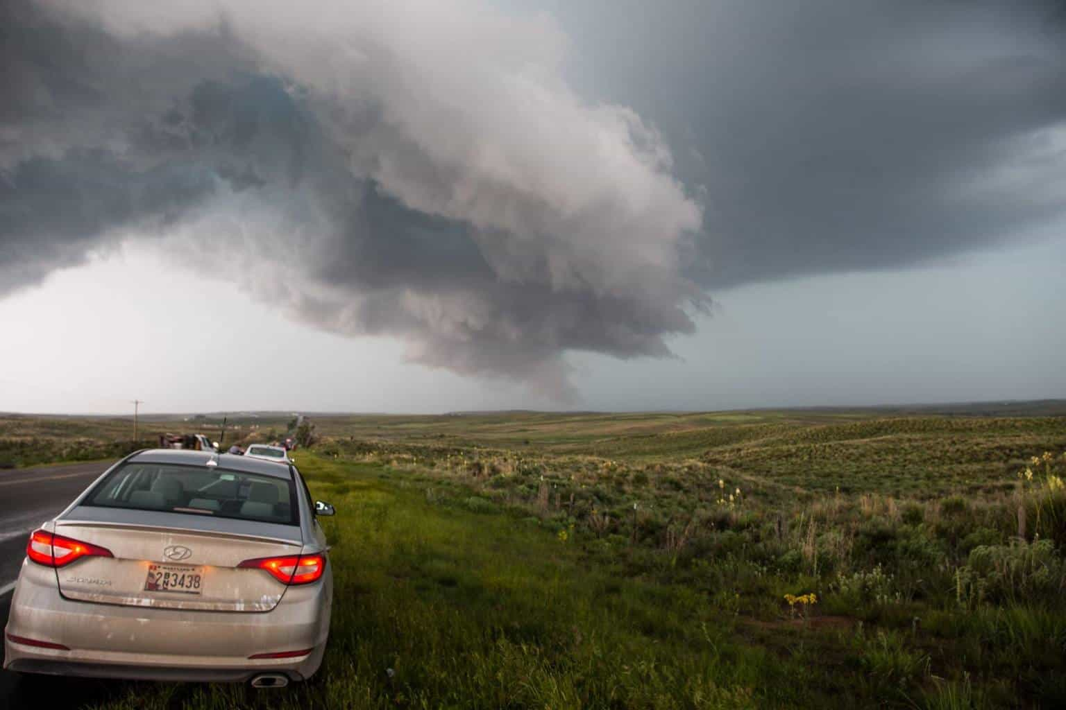 Waiting for the Canadian TX tornado action to kick off - May 27th 2015 — with Willoughby Owen in Canadian, Texas. 