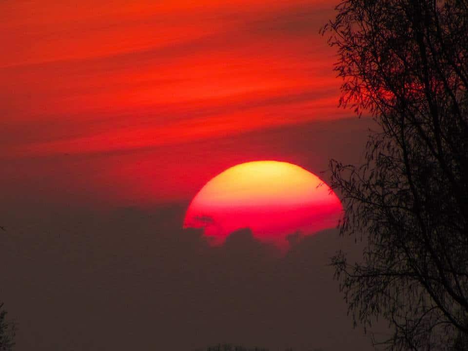 What a beautiful sight tonight. Sunset Netherlands