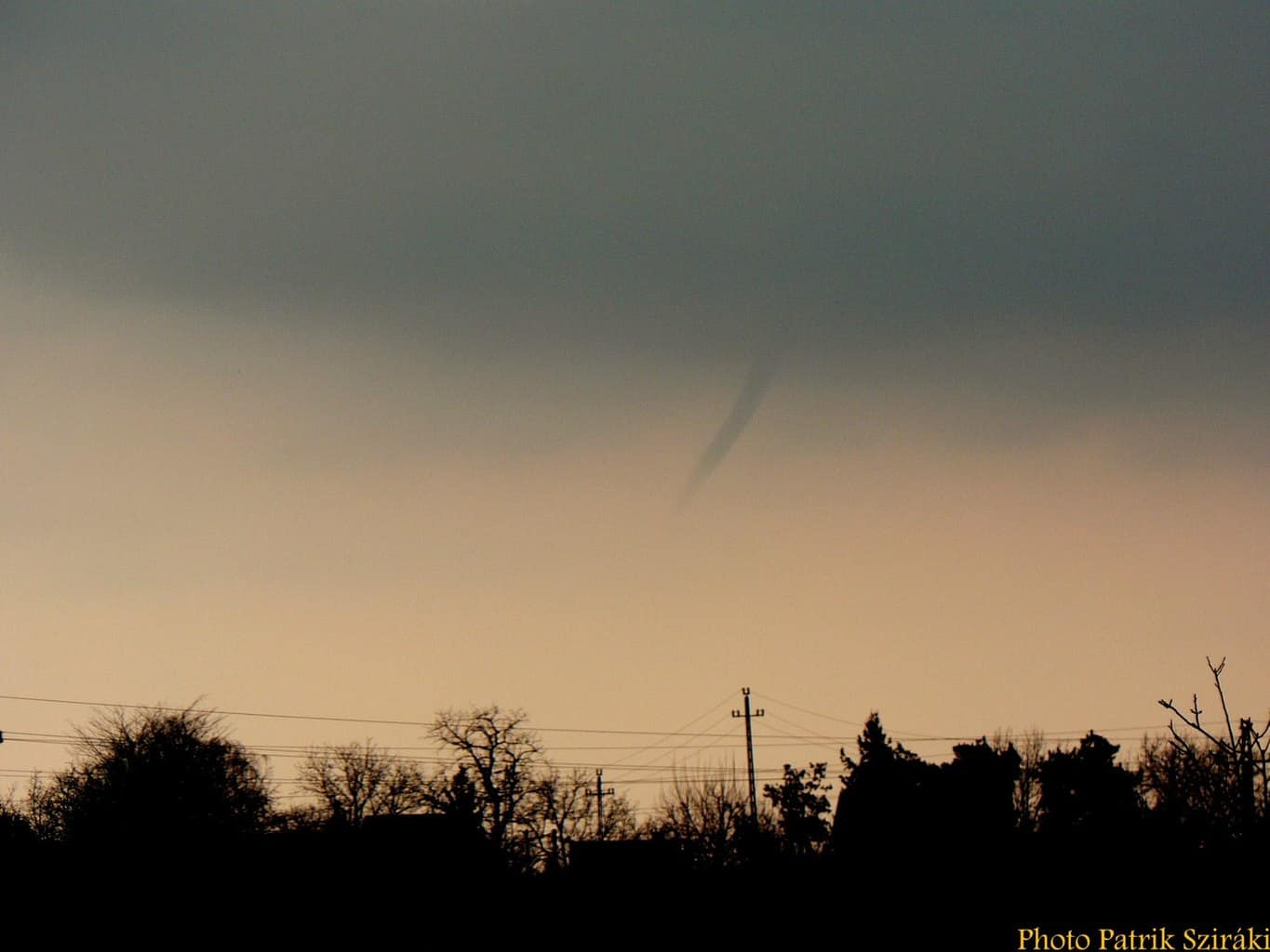 My first funnel cloud, March 13, 2015 in Marfű, Hungary