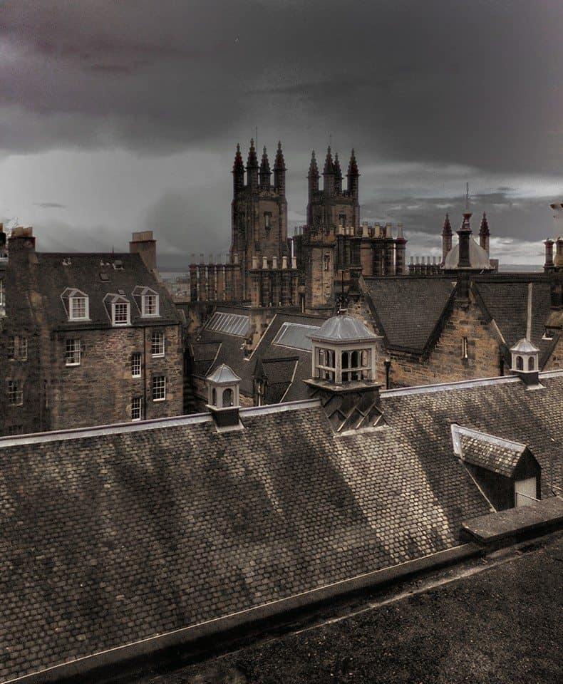 Dark sky over Edinburgh