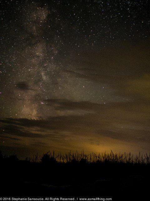 Milky Way emerging from the clouds over Lake Michigan. — at Rock Island State Park (Wisconsin).