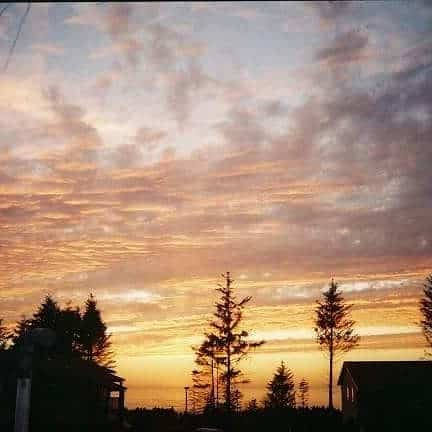 Sunset in Newport Oregon.