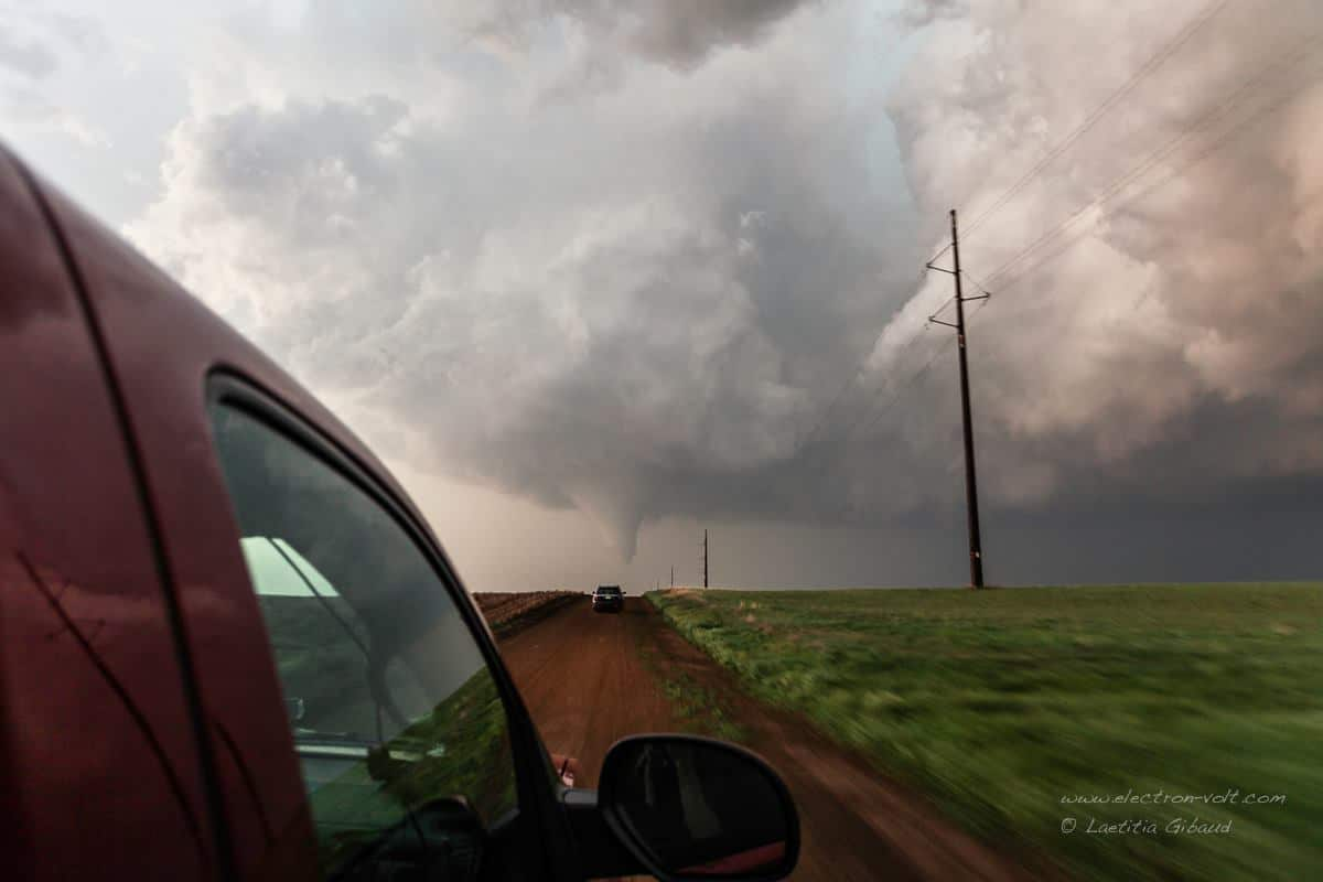 Towards the tornado ! What an awesome day !May 18, 2013 - Rozel, KS