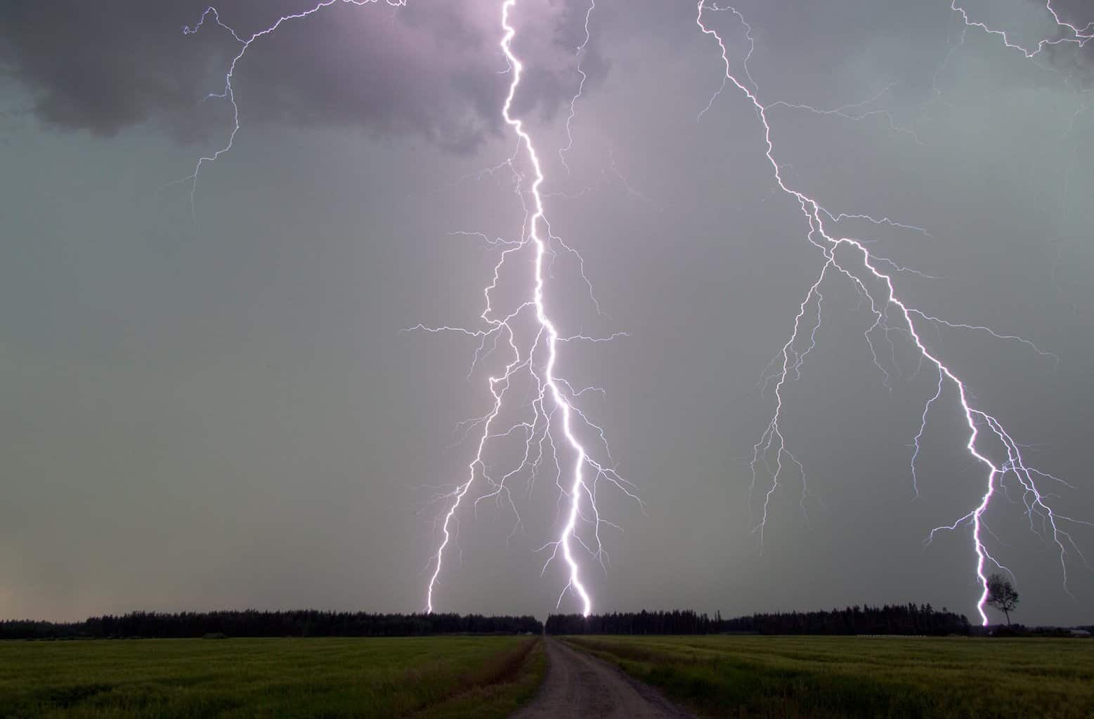 One of the best daytime lightning strikes what i have ever photographed. Kalajoki, Finland summer 2010.