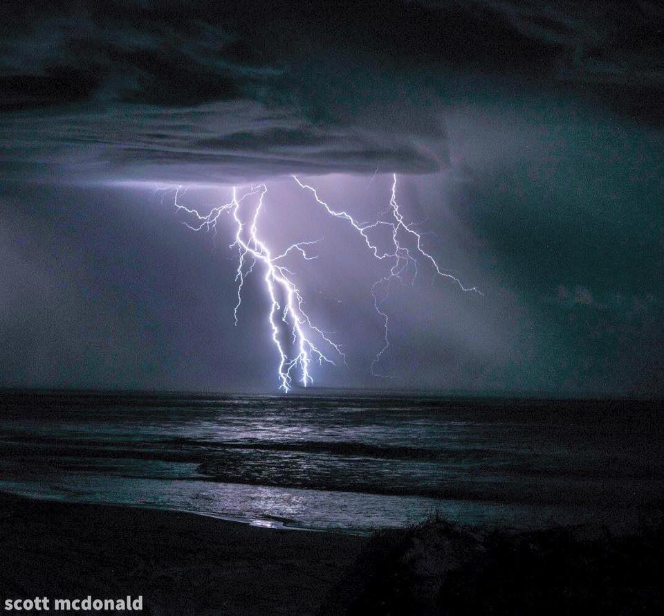 The beauty of a coastal storm after a hot day in Western Australia