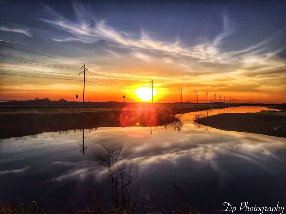 Minnesota lake mirror image