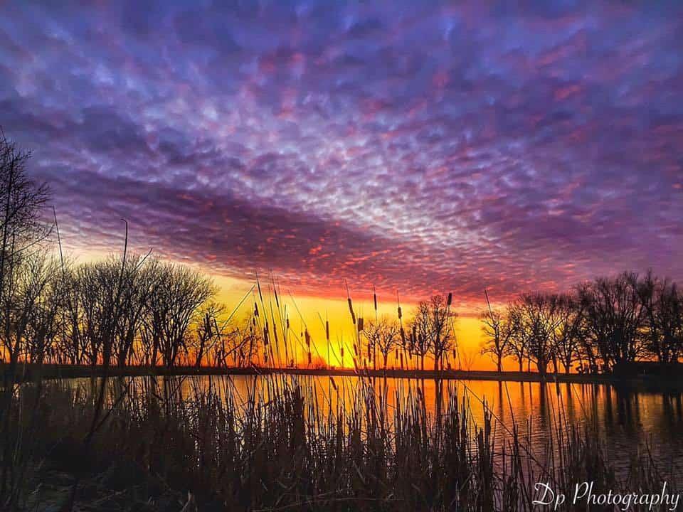 Last nights sunset over Minnesota lake Mn