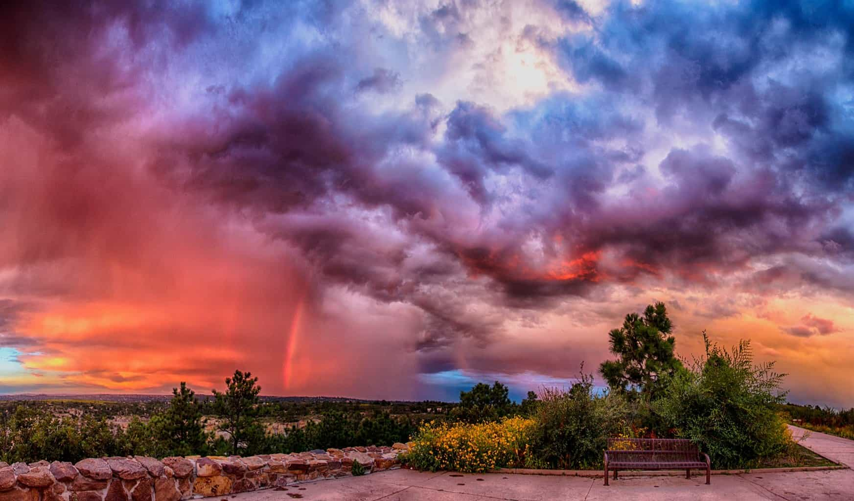 Red Rain... This was taken in Aug-2015. Panorama of sunset in Palmer Park, CO.