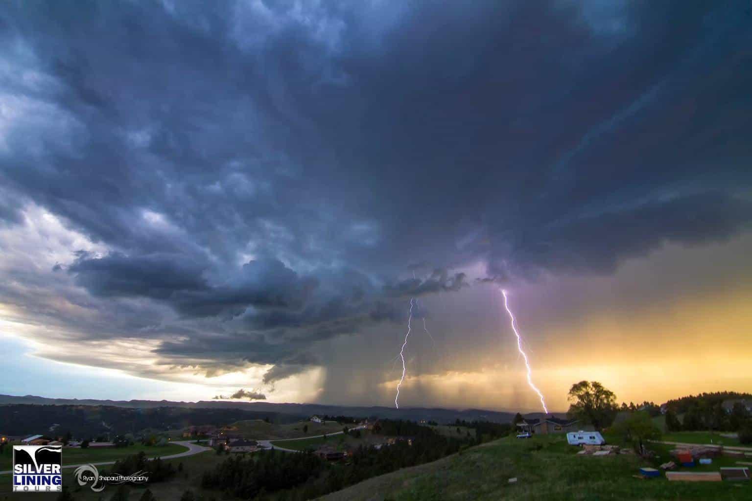 June 1st 2015 Lightning over Rapid City, SD