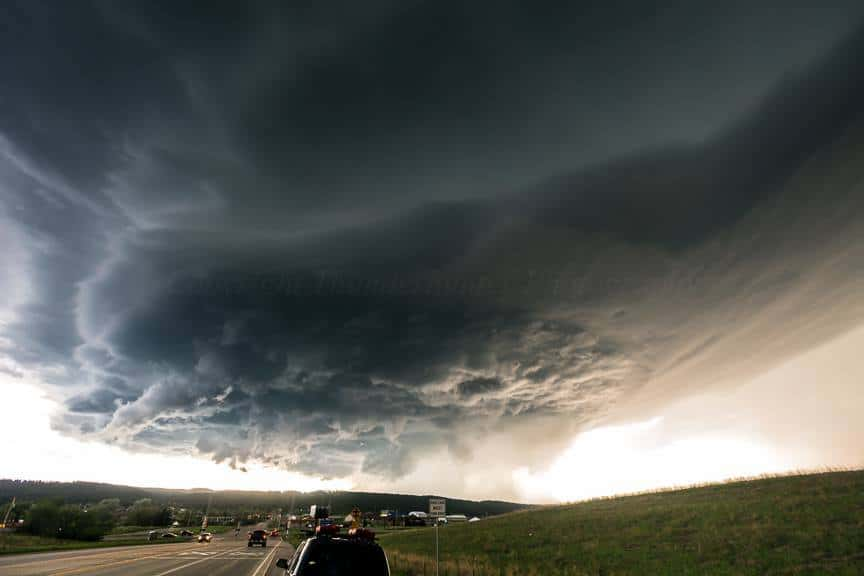 Supercell near Rapid City, SD on June 1st 2015.