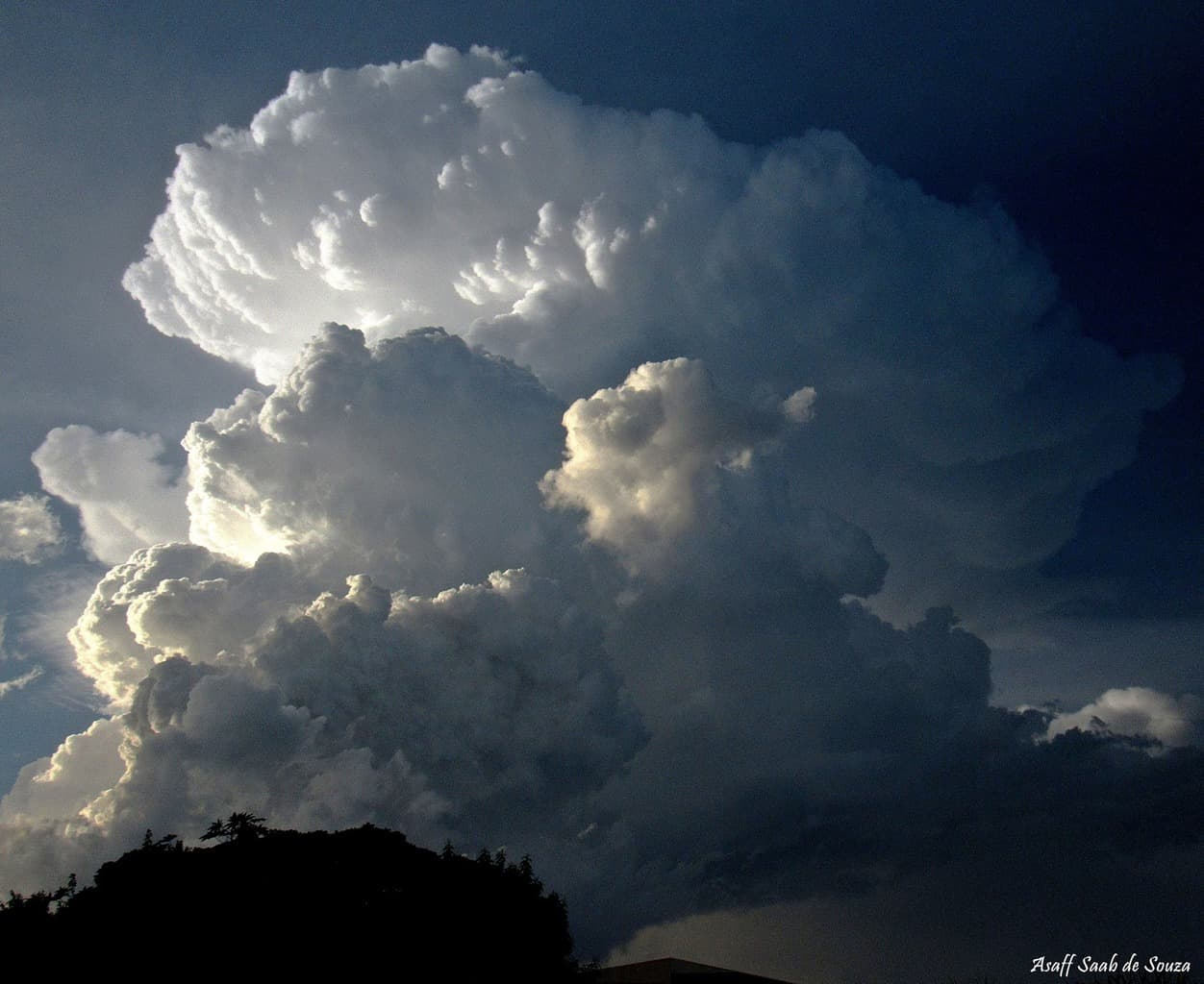 Beautiful formation of a storm in the city's north! Umuarama - Brazil