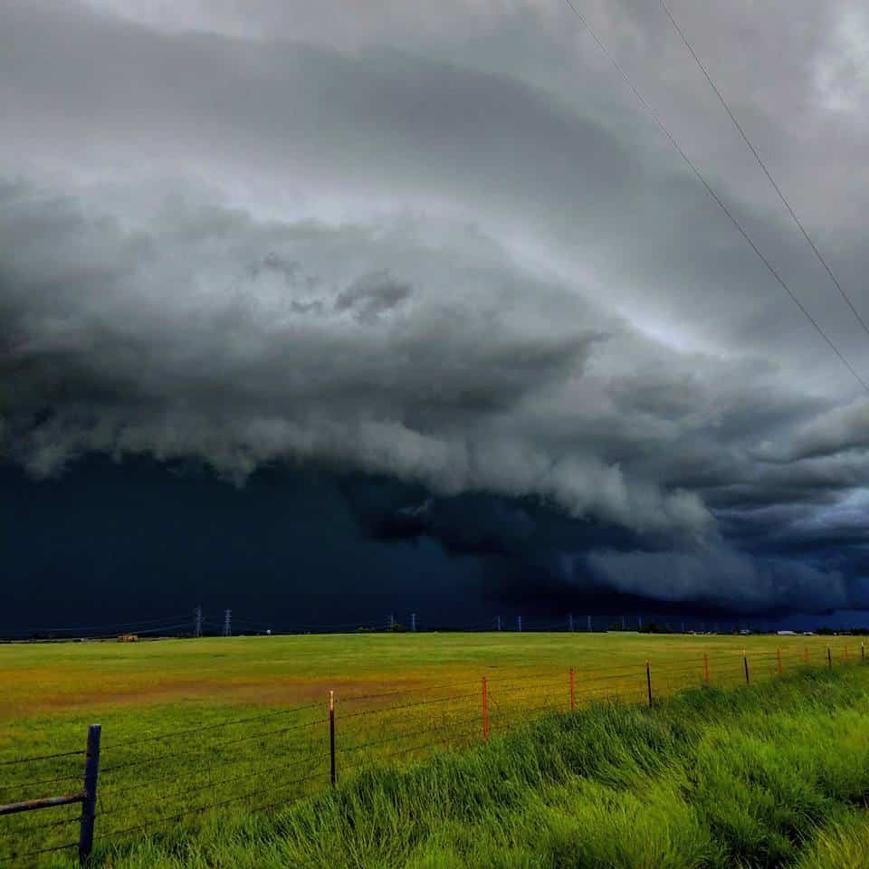 Shelf cloud while storm chasing near Red Bluff, California. 4-22-16.