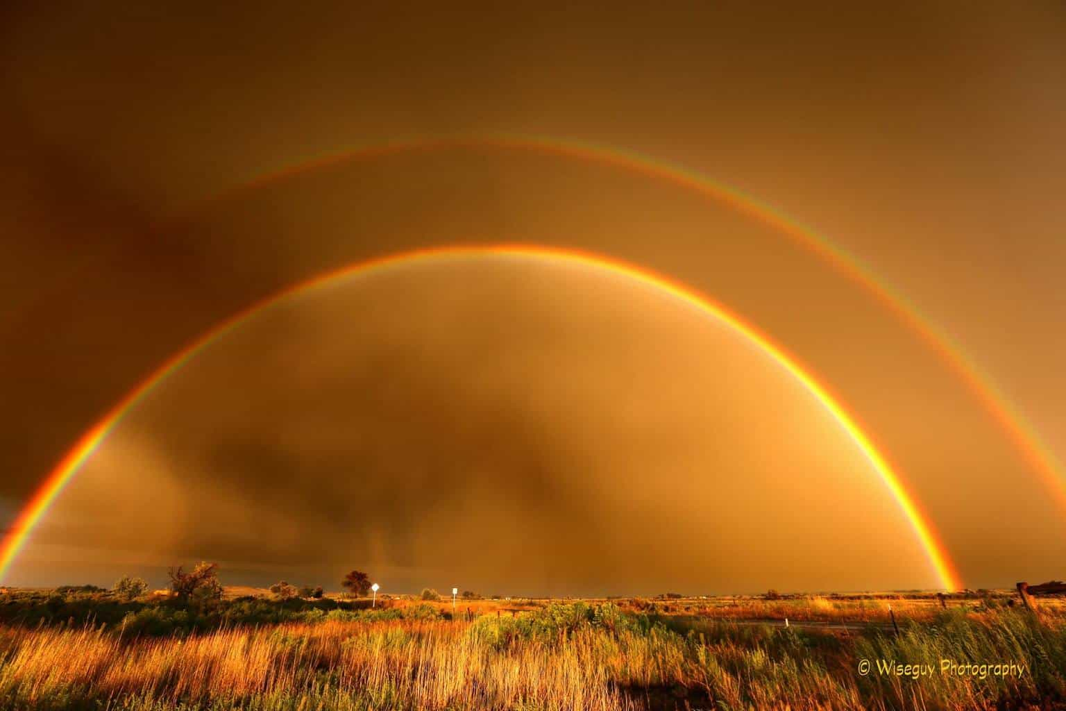 Double Rainbow Sunset in Powell, Wy August 2015