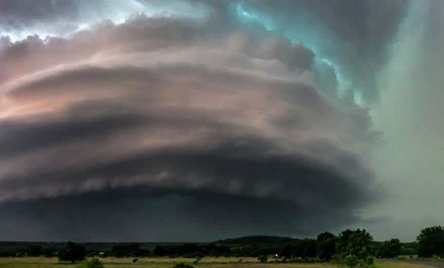 Tornadic HP supercell up close - near Gordon, Texas May 26th 2015.