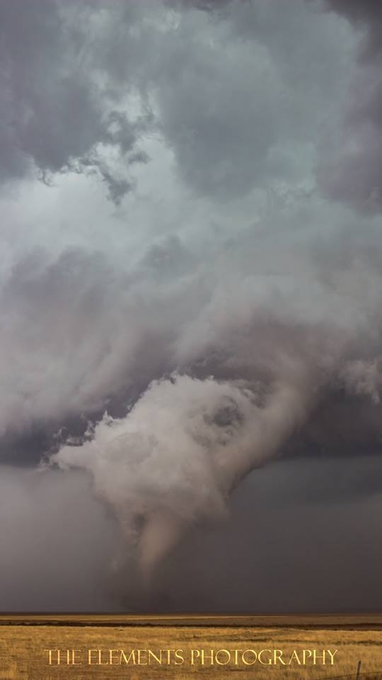 """""""Corkscrew"""" - The photogenic Eads, CO tornado as it started to occlude on 04/15/2016. Possibly the most beautiful tornado I've seen to date."""