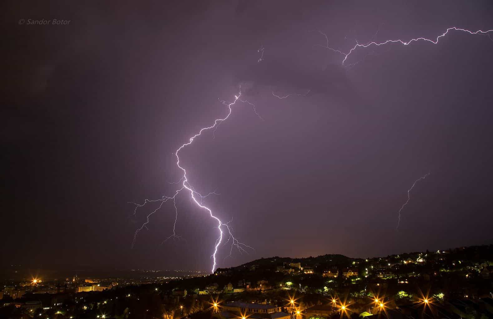 Lightning in Pécs City Hungary... 7/8/2015 — in Pécs.