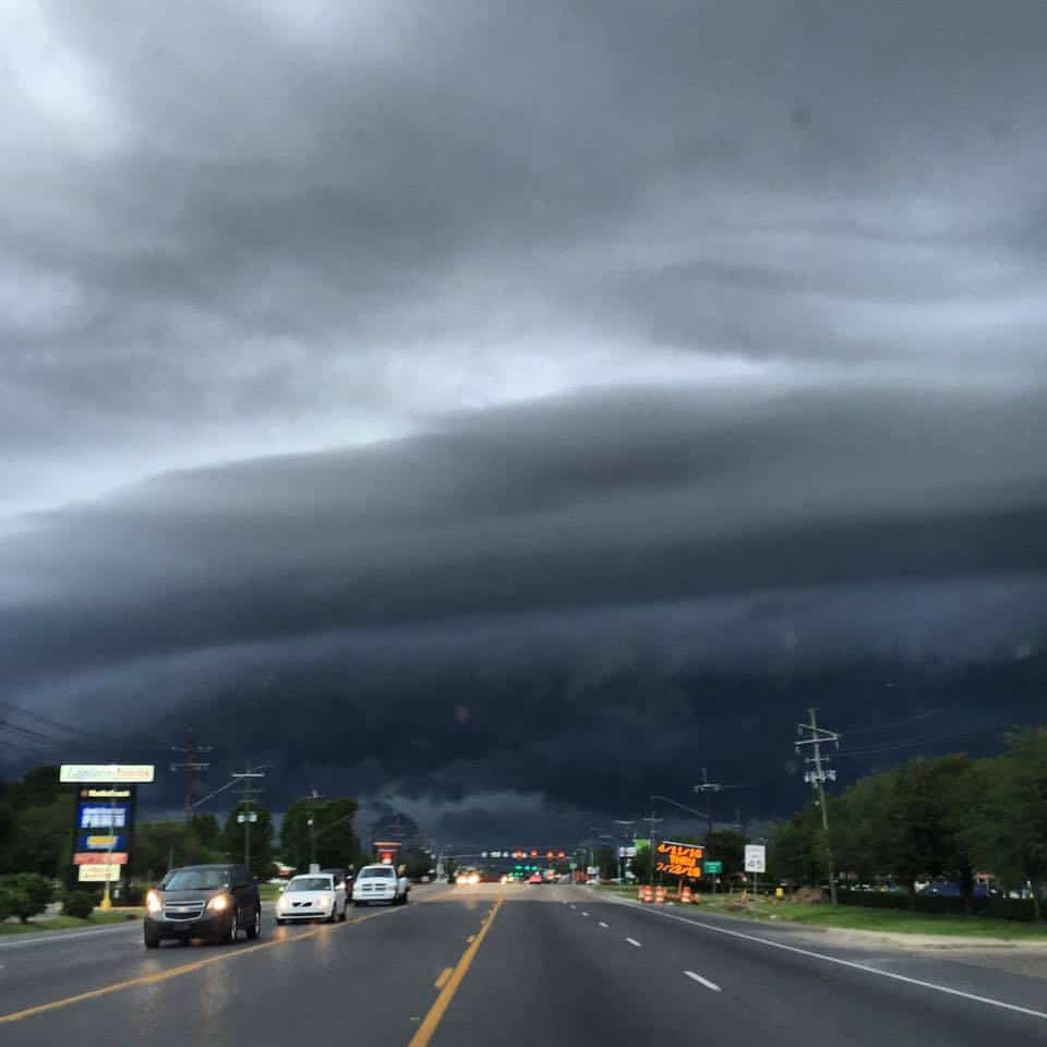 Incoming!!! Taken just now in LaPlace, LA with my iPhone 6+. Enjoy!