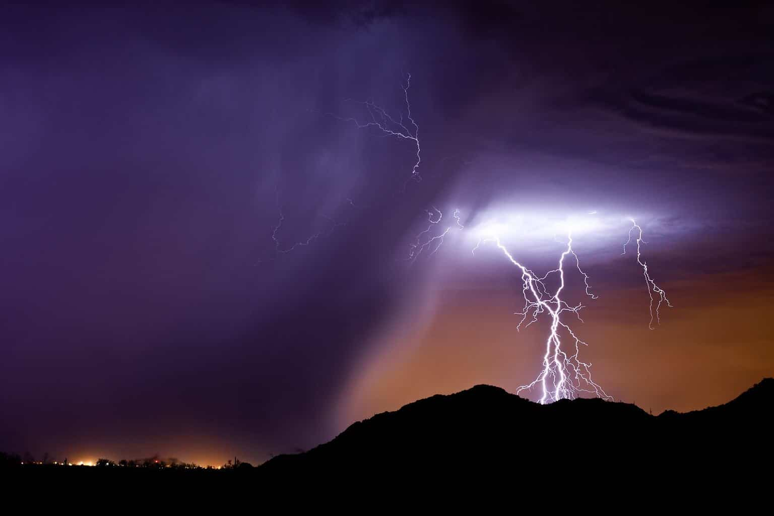 A photo of lightning I took in Arizona about five years ago...and at the time I titled it Purple Rain. Wanted to share it again today for obvious reasons.#ripPrince