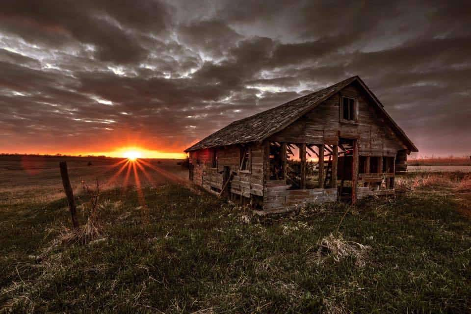 Sunset on the prairie, just outside of Lincoln, Nebraska.