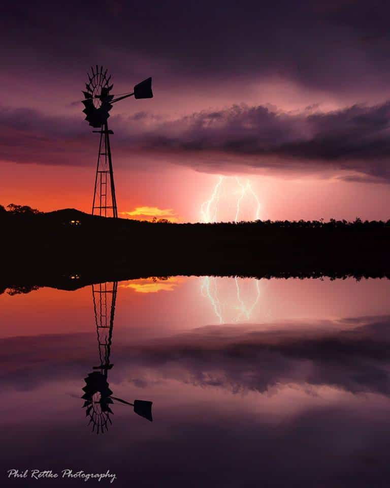 Sunset Lightning - One of my favourite images with three of my most sort after components. Sunset, windmills and lightning... As far as i'm concerned it doesn't get much better