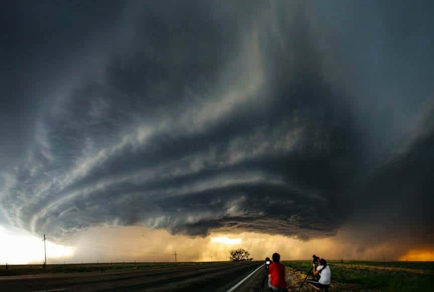 Supercell at dusk - Texas, June 3rd 2013.