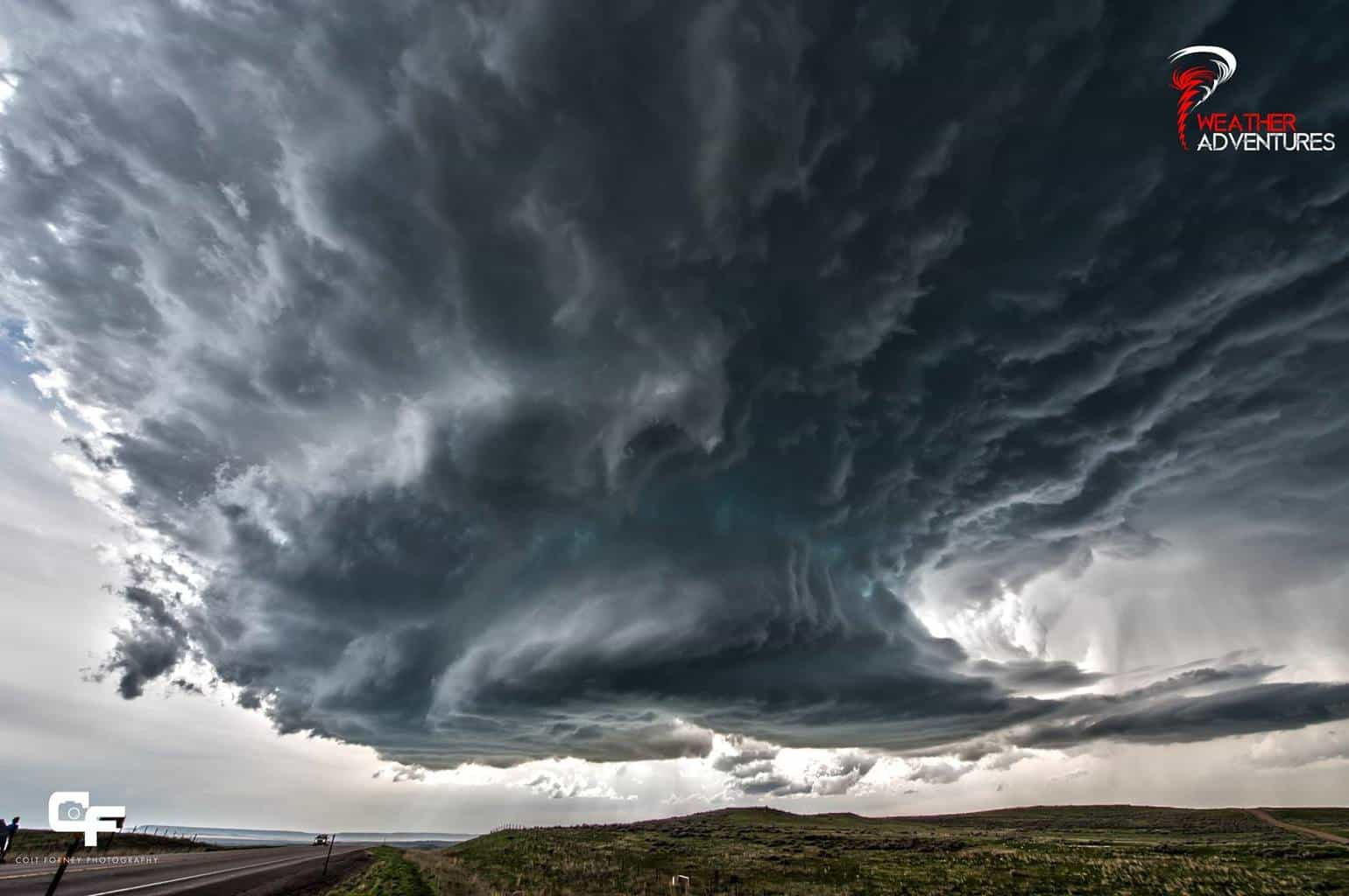 May 18, 2014 Wright, WY As this supercell rapidly intensified, it acquired some epic structure!