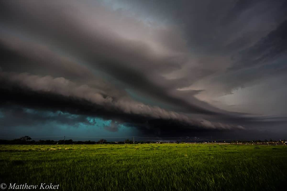 Storm today as it entered Denton, Tx!