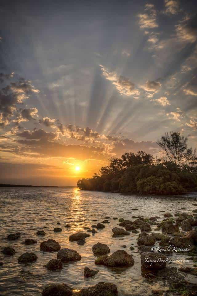 Tampa Bay Sunrise - 4-16-2016 — at Skyway Bridge.