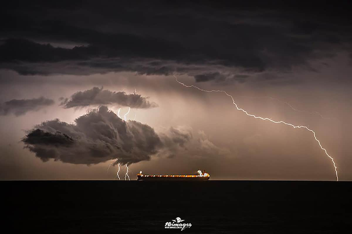 Storm off the coast at Wollongong Australia
