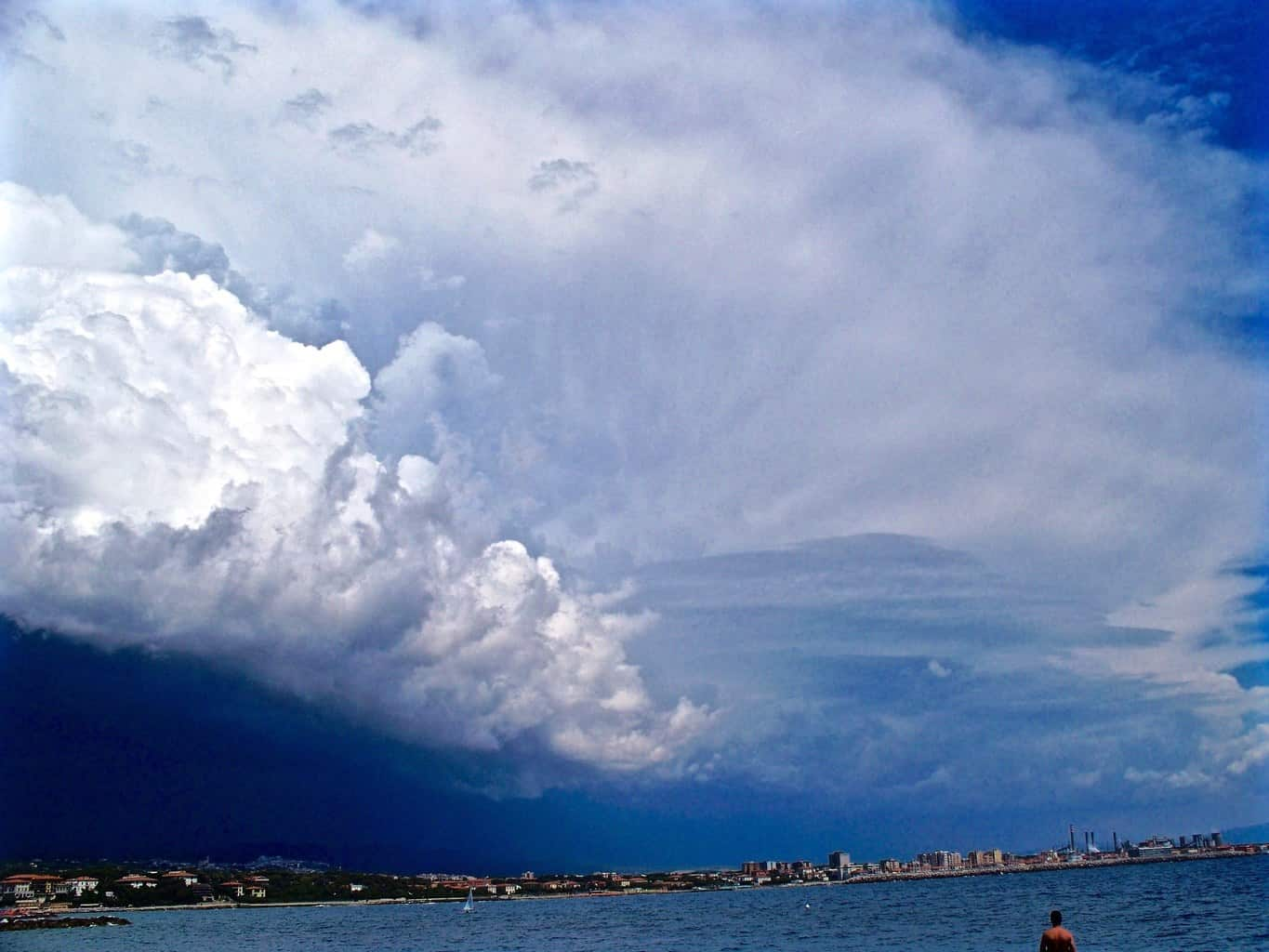* Coming squall line on the sea * My shot of a squall line coming in the sea, when i was here for holidays.