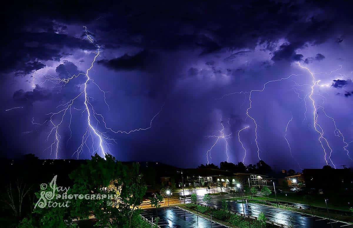Lightning in Fayetteville, Arkansas