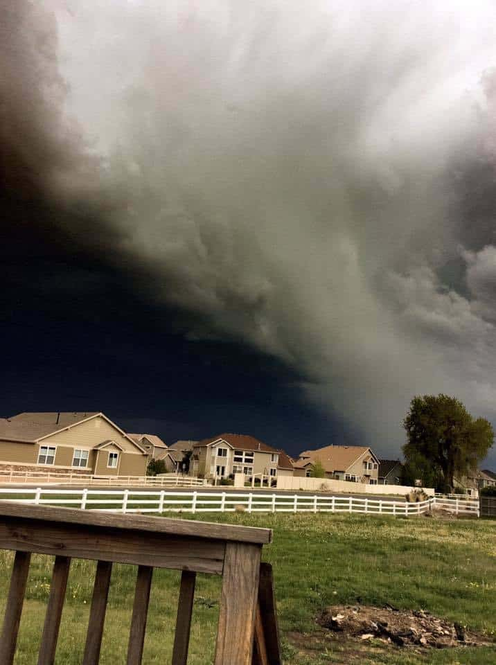 My 13 year old meteorologist took this with her iPad mini just now in Weld County Colorado.