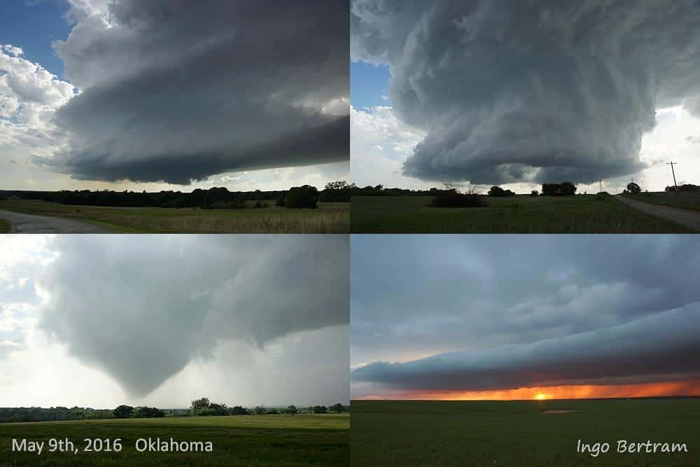 Yesterday I could observe this impressive supercell near Stillwater (Oklahoma).