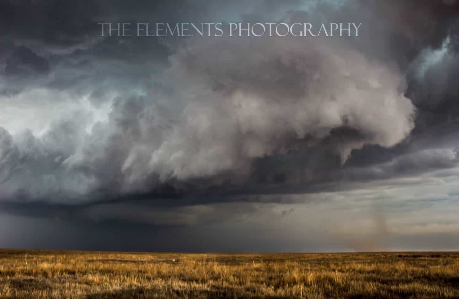 "This was the original Eads tornado before the main one. Hardly visible until you notice the ground circulation in the dust. In total we saw three tornadoes on this storm, and 7 for the day. This was before the main stove pipe. I took some artistic liberties in the edit for fun, let me know if you enjoy it or prefer ""cleaner""."
