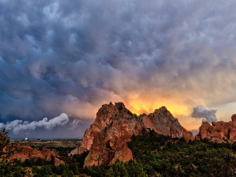 Sunset at Garden of the Gods, Colorado Springs. CO