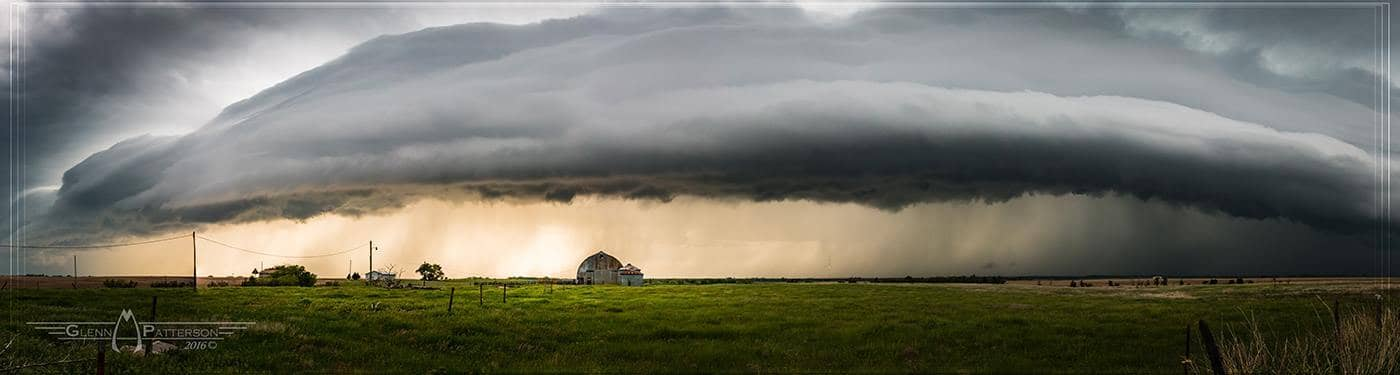 Looks like the Mothership is Trying to land Today in Southwest Oklahoma Lol. Actually a Pano of one of the smaller Cells coming through South of Cordell Oklahoma on April 26th 2016.