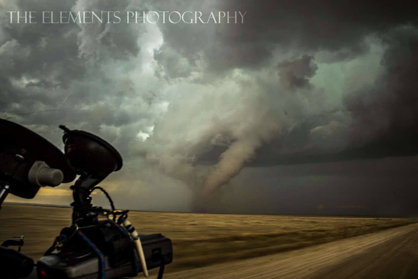 A live action shot as we attempted to get closer to the Eads, CO tornado this passed month.
