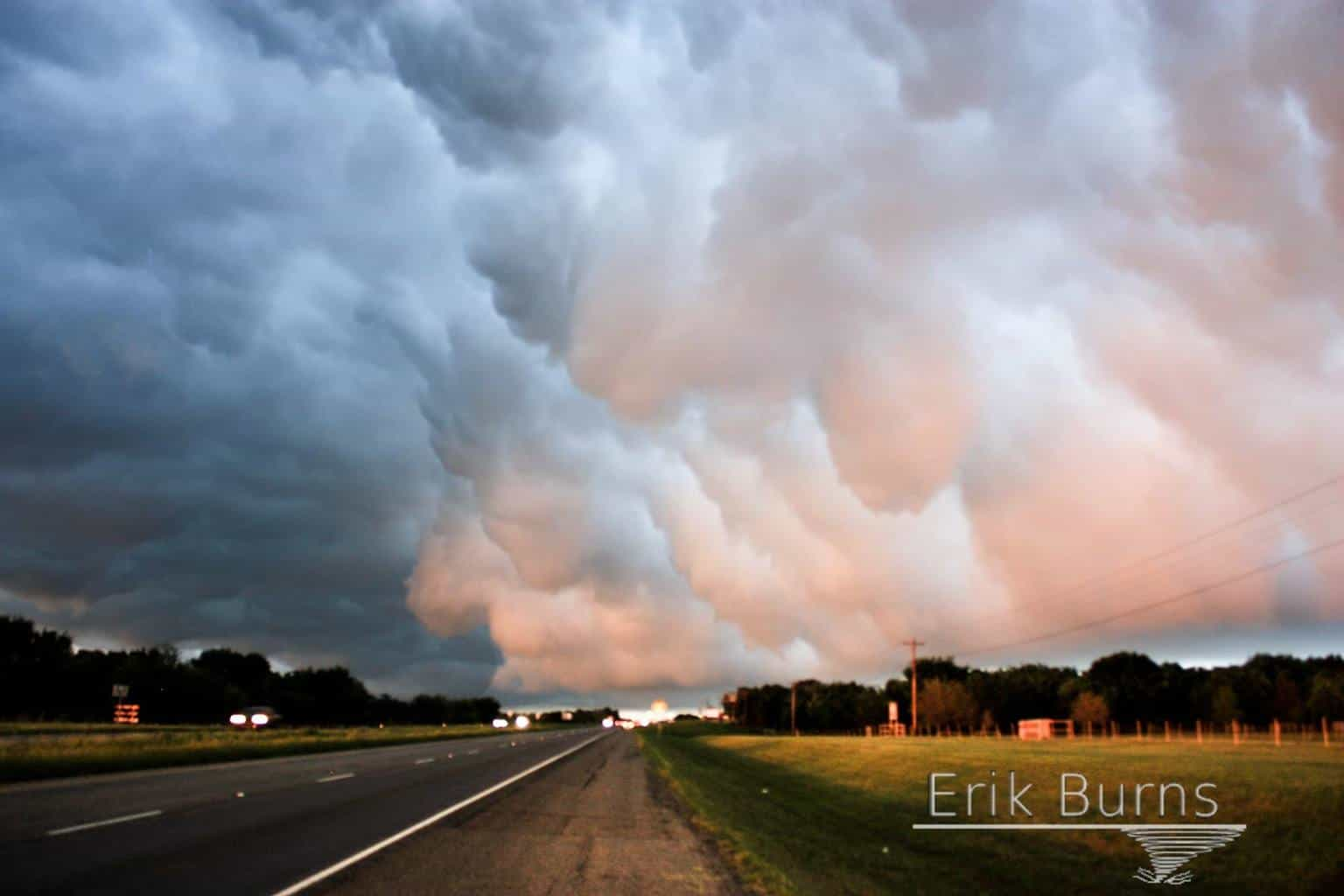 Sometimes the best photo ops come after the darkness of the beast. Backside of the gust front. April 29, 2016 Whitesboro, TX.
