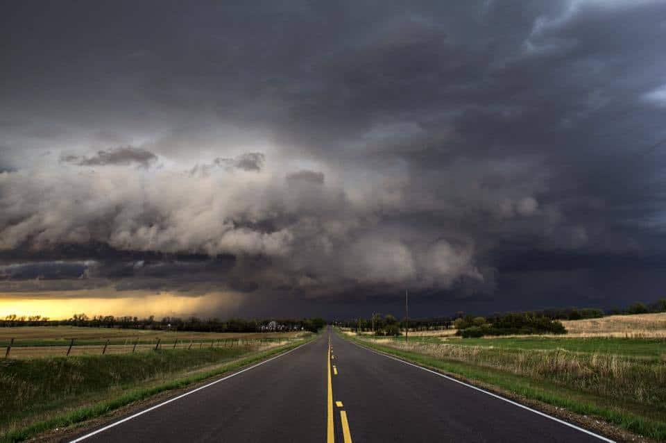 Tornado-warned supercell near Abilene, Kansas. 4/24/16
