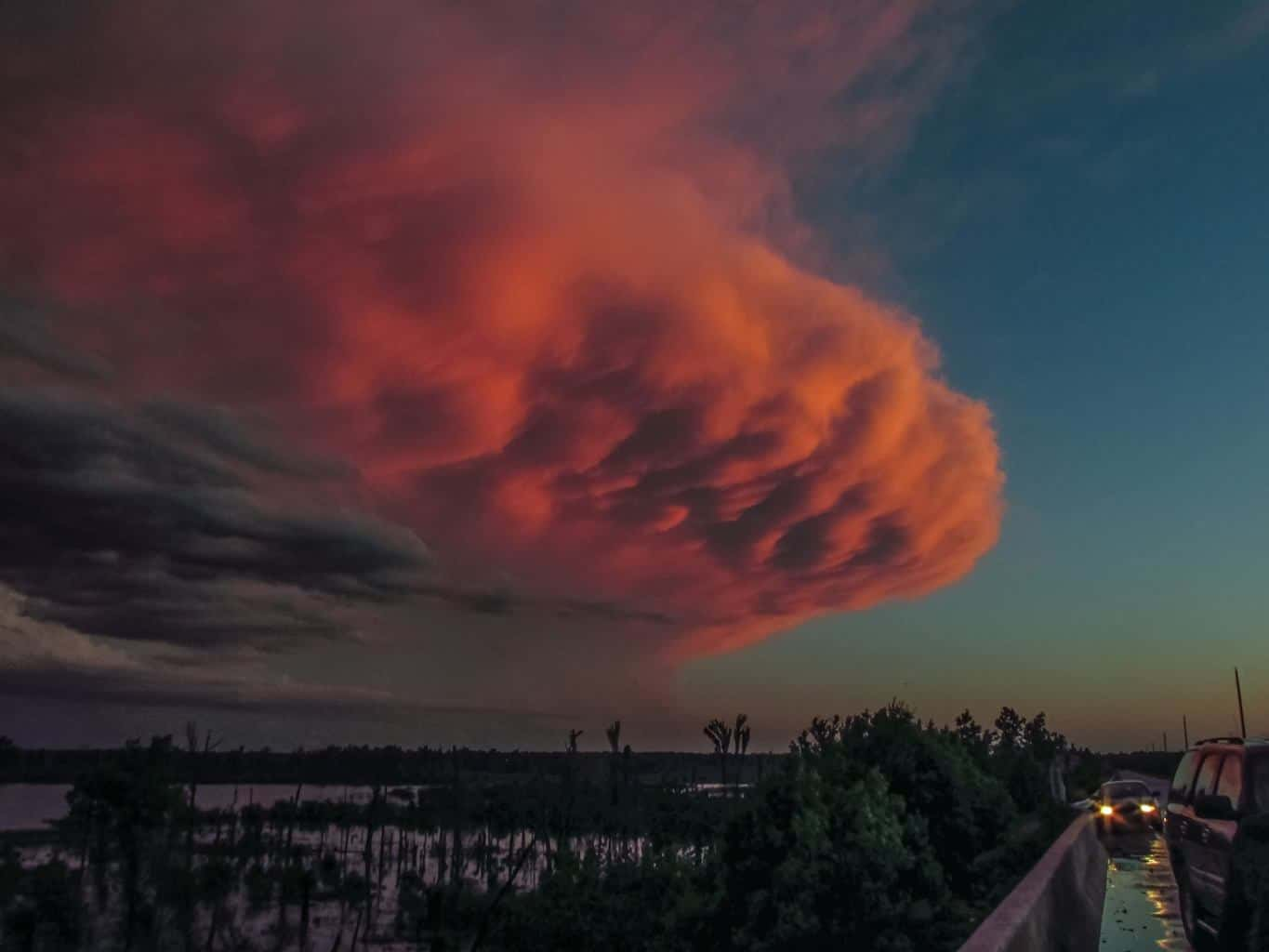 """""""When the Sky turns Pink"""" After the tornadoes of 5-9-16 in Oklahoma I had a 165* panoramic view of one of the most amazing """"sky explosions"""" and full spectrum color wheel before darkness ensued to conclude the day.......video and pics were astounding!"""